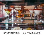 jelly with fresh berries in a... | Shutterstock . vector #1374253196