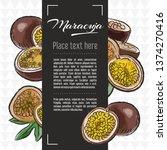 maracuja fruit vector menu... | Shutterstock .eps vector #1374270416