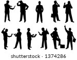 wide variety of silhouette... | Shutterstock . vector #1374286