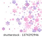 crystal snowflake and circle... | Shutterstock .eps vector #1374292946