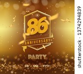86 years anniversary logo... | Shutterstock .eps vector #1374294839