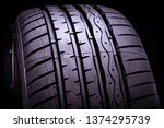 new summer tires on black background hankook ventus s1 evo