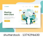 landing page template of...   Shutterstock .eps vector #1374296630