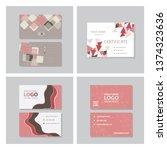 set of vector modern creative... | Shutterstock .eps vector #1374323636
