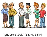 family set  couples at... | Shutterstock .eps vector #137433944