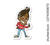 retro distressed sticker of a...   Shutterstock . vector #1374350873
