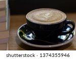 fresh coffee in clear glass...   Shutterstock . vector #1374355946
