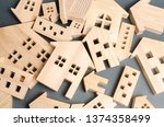 Many Felled Wooden Houses....