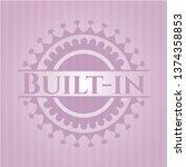 built in pink emblem. retro | Shutterstock .eps vector #1374358853