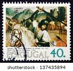 portugal   circa 1984  a stamp... | Shutterstock . vector #137435894
