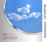 abstract background with sky ... | Shutterstock .eps vector #137439740
