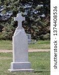 Stone Pillar In Cemetery
