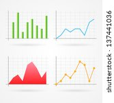 clean vector set of different... | Shutterstock .eps vector #137441036