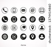contact us icons. web icon set | Shutterstock .eps vector #1374414860