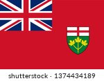 flag of ontario is one of the... | Shutterstock .eps vector #1374434189