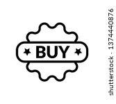 buy sticker icon  vector full... | Shutterstock .eps vector #1374440876