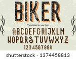 font script typeface vector... | Shutterstock .eps vector #1374458813