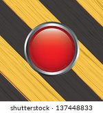 caution lines over yellow and... | Shutterstock .eps vector #137448833