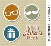 fathers day card  retro style.... | Shutterstock .eps vector #137450264