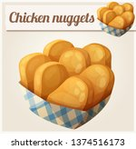 chicken nuggets in the paper... | Shutterstock . vector #1374516173