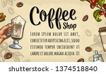 template poster with coffee... | Shutterstock .eps vector #1374518840