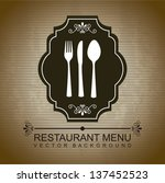 restaurant menu over brown... | Shutterstock .eps vector #137452523