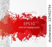 bright grunge background for...   Shutterstock .eps vector #137452754