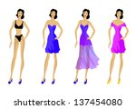 set of fashionable clothes ... | Shutterstock . vector #137454080