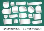 empty silver stickers set | Shutterstock .eps vector #1374549500