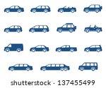 car icons set. vector... | Shutterstock .eps vector #137455499