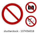 a set of prohibiting signs ...