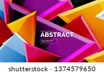 glossy mosaic style geometric... | Shutterstock .eps vector #1374579650