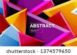 glossy mosaic style geometric... | Shutterstock .eps vector #1374579650
