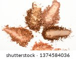 Stock photo eye shadow or bronzer neutral brown smudge isolated on white background 1374584036