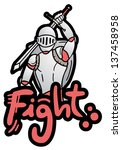 medieval warrior   Shutterstock .eps vector #137458958