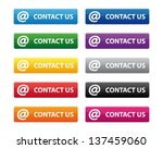contact us buttons. vector...   Shutterstock . vector #137459060
