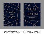 wedding invitations design or... | Shutterstock .eps vector #1374674960