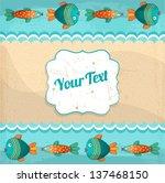 vector summer greeting card | Shutterstock .eps vector #137468150