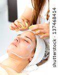 healthcare treatment at the spa ... | Shutterstock . vector #137468414