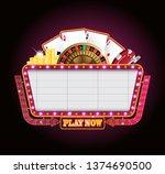 brightly vintage glowing retro... | Shutterstock .eps vector #1374690500