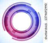 geometric frame from circles ...   Shutterstock .eps vector #1374692990