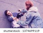 having playful mood. active... | Shutterstock . vector #1374699119