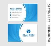 modern business card   Shutterstock .eps vector #1374701360