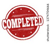 completed sign or stamp on... | Shutterstock .eps vector #1374704666