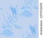 various pen hatches. seamless... | Shutterstock .eps vector #1374712670