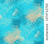 various hatches. seamless... | Shutterstock .eps vector #1374712703