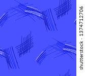 various pen hatches. seamless... | Shutterstock .eps vector #1374712706