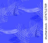 various pencil hatches.... | Shutterstock .eps vector #1374712709