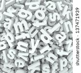 many alphabet letters in a...   Shutterstock . vector #137471939