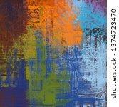 abstract texture. 2d... | Shutterstock . vector #1374723470